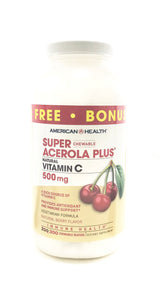 Super Acerola Plus Vitamin C Chewables 500 mg 300 Wafers