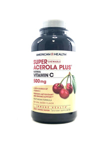 American Health Super Acerola Plus Vitamin C Chewables 100 Wafers