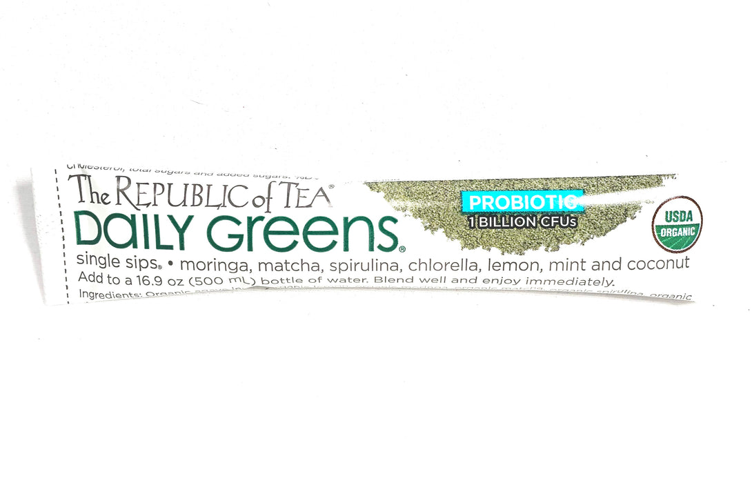 Republic of Tea Daily Greens Single Sips Single Serving