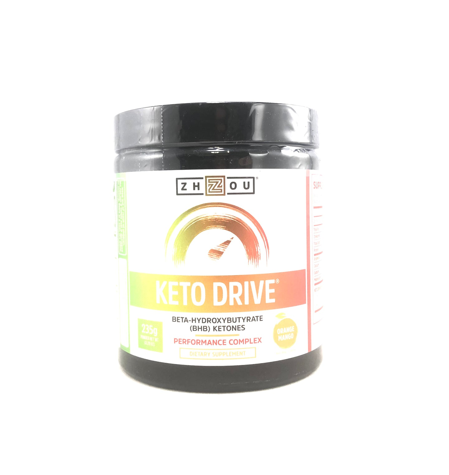 Zhou Keto Drive Orange Mango 8.29 Oz