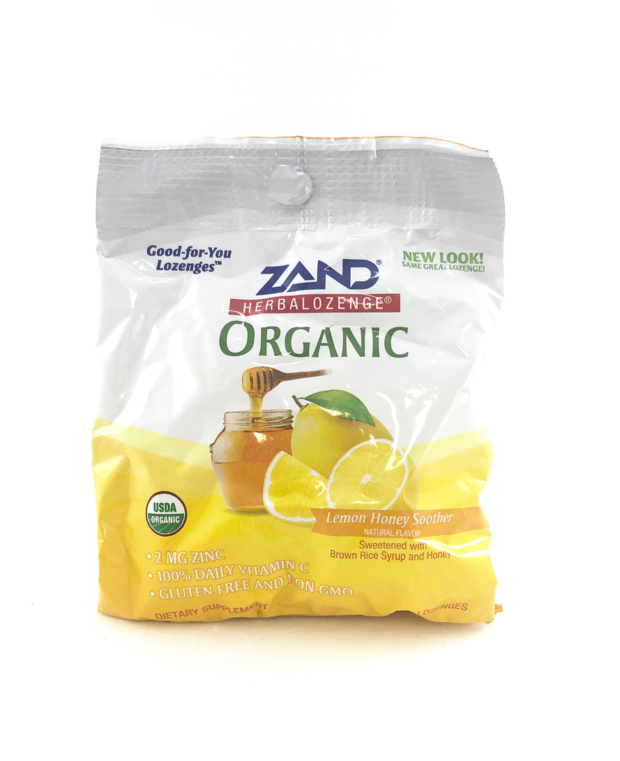Zand Organic Lemon Honey Soother lozenges