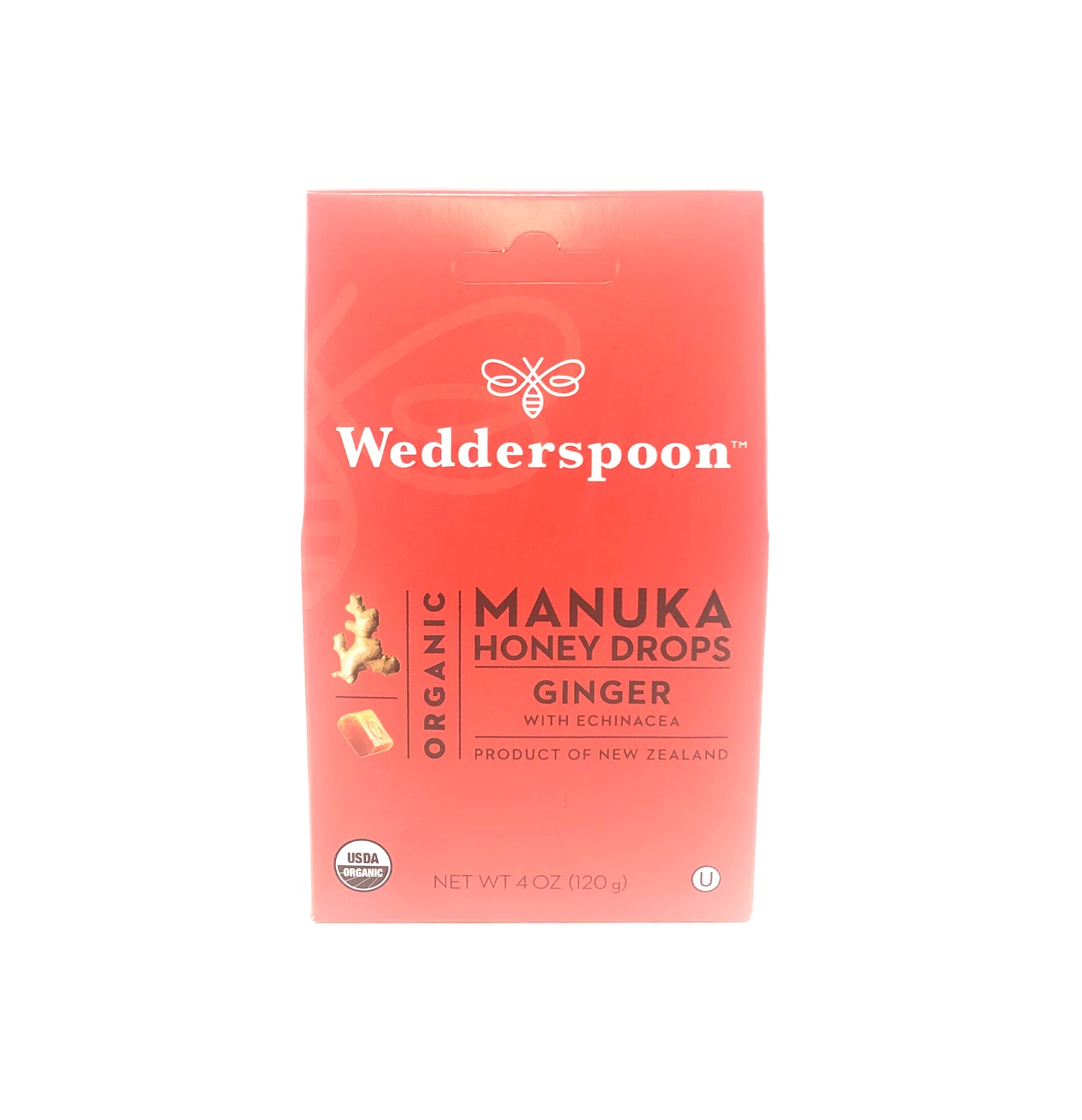 Wedderspoon Manuka Honey Drops Ginger
