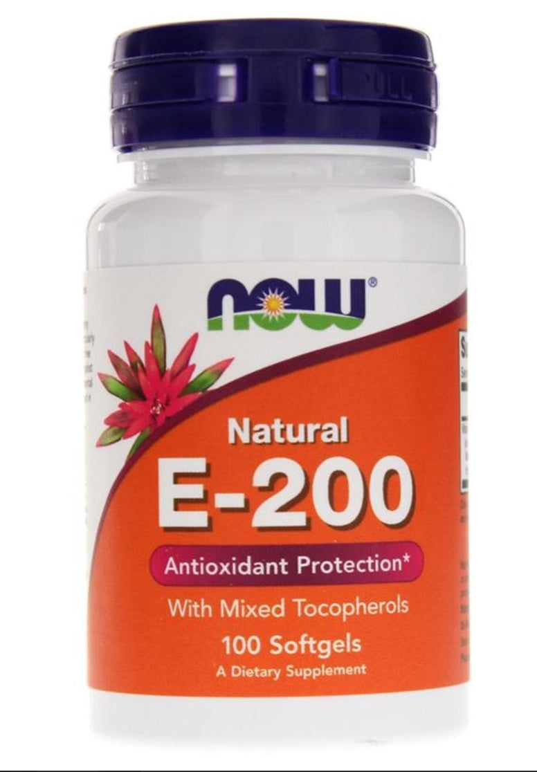 Now Natural E-200 100 Softgels