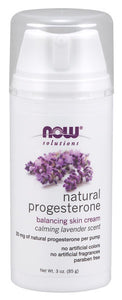 Natural Progesterone Balancing Skin Cream with Lavender - 3 oz.