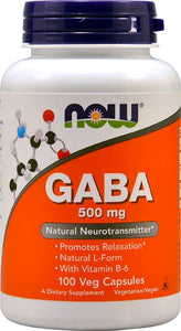 Now GABA 500 mg 100 Capsules