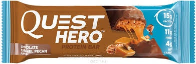 Quest Hero Protein Bar Chocolate Caramel Pecan 2.12 oz