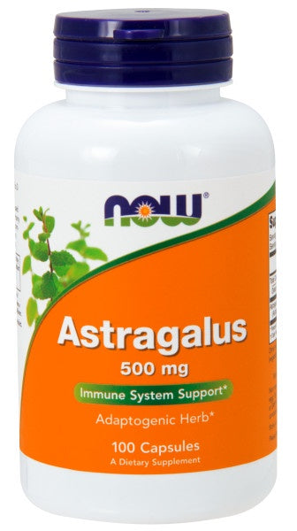 Now Astragalus 500 mg - 100 Capsules