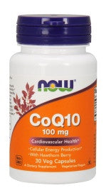 CoQ10 100 mg with Hawthorn Berry Vegetarian - 30 Veg Capsules