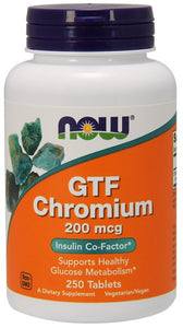 GTF Chromium 200 mcg Yeast Free - 250 Tablets