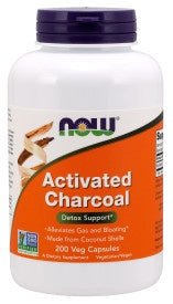 Now Activated Charcoal 200 Capsules