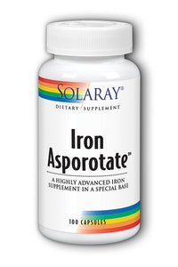 Solaray Iron Asporotate 100 Capsules