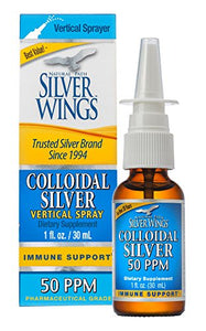 Silver Wings Colloidal Silver Vertical Sprayer 50 PPM