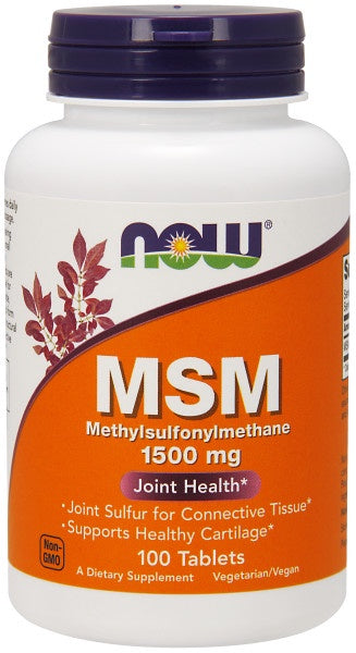 Now MSM 1500 mg - 100 Tablets