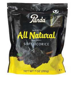 Panda All Natural Black Licorice Bites 7 Oz.