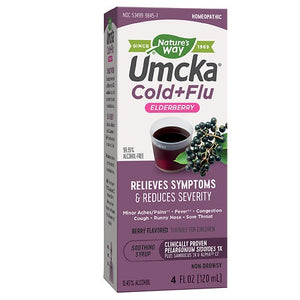 Nature's Way Umcka Cold + Flu Elderberry 4 Oz