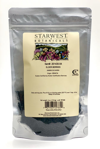 Starwest Elder Berries 4 oz.