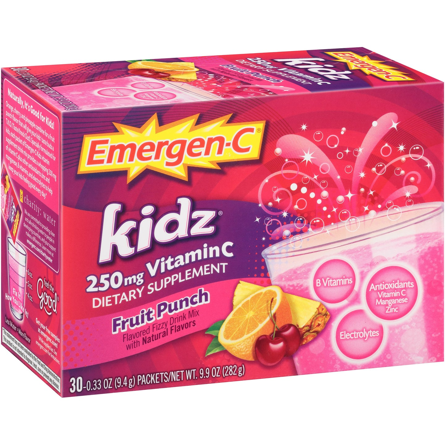 Emergen-C Kids Fruit Punch 30 Packets