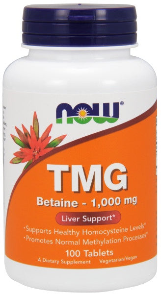 TMG (Trimethylglycine) 1,000 mg - 100 Tablets