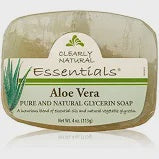 Clearly Natural Essentials Aloe Vera Glycerine Soap 4 Oz