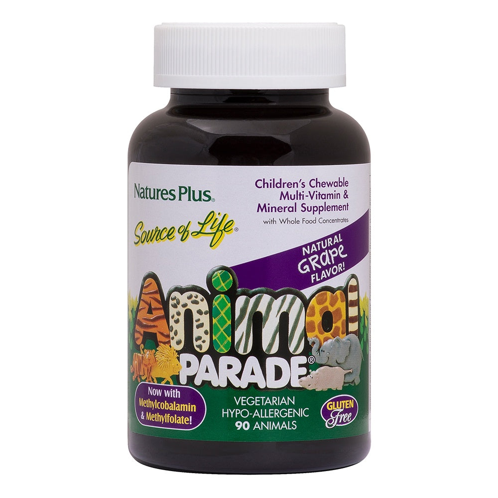 Animal Parade Children's Chewable Multi-Vitamin and Mineral Grape 90 Animals