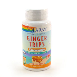 Solaray Ginger Trips 60 Chewable Wafers