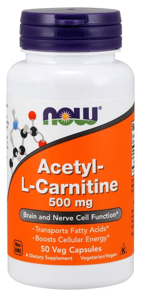Acetyl-L-Carnitine 500 mg - 50 Veg Capsules