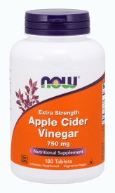 Now Apple Cider Vinegar, Extra Strength 750 mg - 180 Tablets