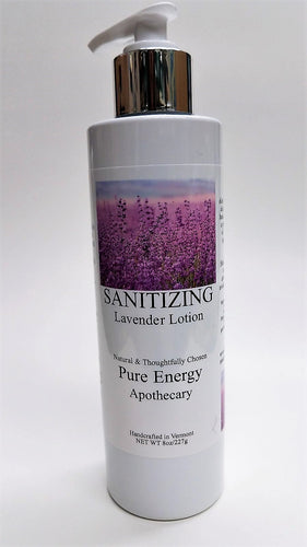 Pure Energy Apothecary Sanitizing Hand Lotion Lavender 8 Oz.