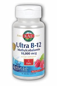 KAL Ultra B-12 Methylcobalamin 10000 mcg