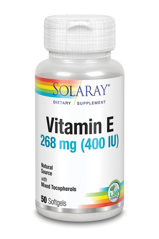 Solaray Vitamin E 400 IU 100 Softgels