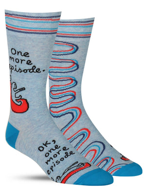 'ONE MORE EPISODE' MENS SOCKS