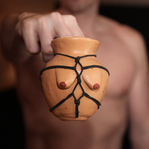 Cheeky Pottery - Titty-Pot -Shibari