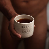 Coffee mug - Suck My Balls - Beige