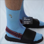 Cocks On Socks - Blue Socks w/White logo