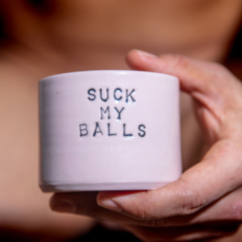 Coffee mug - Suck My Balls - Pink