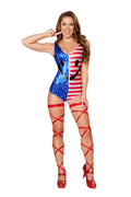 Happy Fourth of July Flag Romper Red/White/Blue