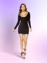 Bodycon Dress with Open Back Design