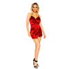 Stretch Satin Overlap Scrunched Dress