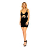 Underwire Keyhole Mini Dress with Attached Belt Detail