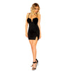 Mini Dress with V Wire Detail and Velvet Padded Cup