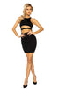 Sexy Black Entanglement Underboob Cutout Women Mini Bodycon Dress