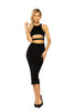 Entanglement Underboob Cutout Sexy Black Women Long Bodycon Dress