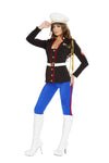 Sexy Marine Corporal Blue Pants Costume with Red Vertical Stripe