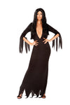 Women's Sexy Morticia Addams Odd Family Costume Dress