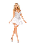 White Sexy Newlywed Bride Costumes in S, M, L