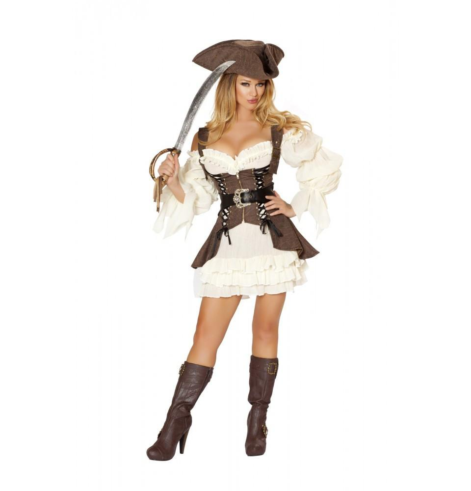4529 4pc Naughty Ship Wench Costume - Roma Costume New Products,Costumes,2014 Costumes - 1