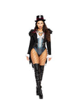 Voodoo Queen Shredded Coat with Faux Fur Chain Costume
