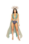 Blue/Gold Medusa Guardian Halloween Costume Romper