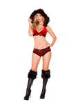 Christmas Red and Black Santa's Naughty Girl