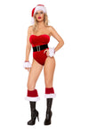 Christmas Naughty Claus Velvet Romper Dress
